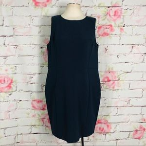 Loft sheath dress w exposed back zipper